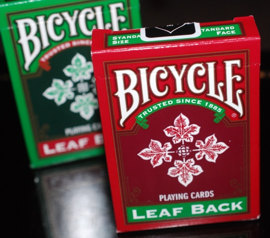 2012 Leaf Back Playing Cards