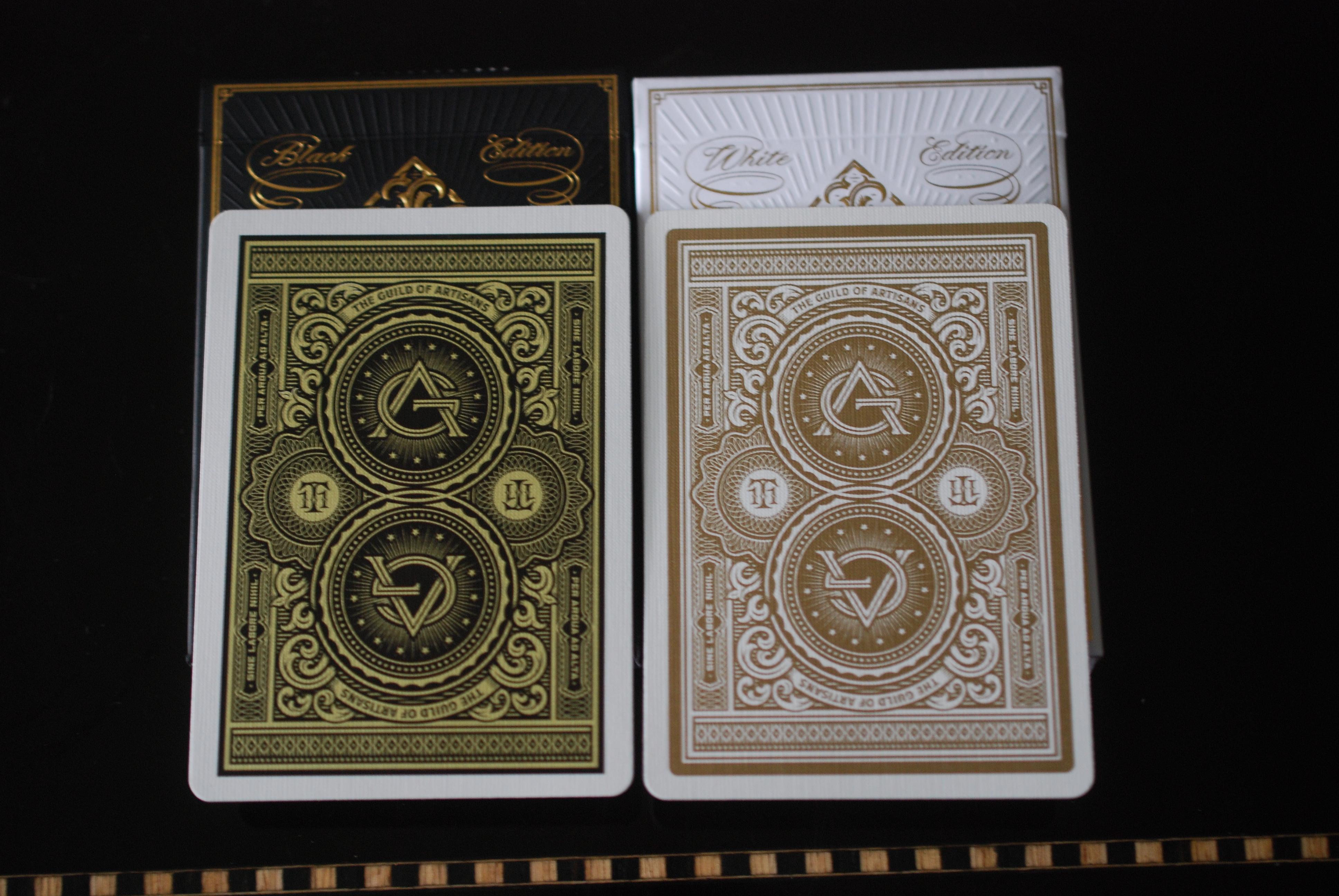 USPCC Theory 11 Artisan Premium Playing Cards Black Or White