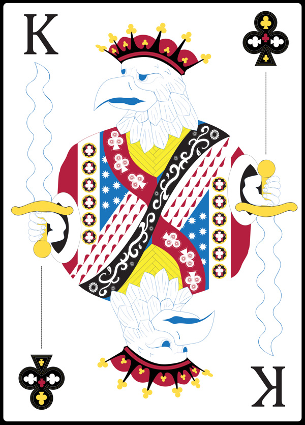 Card Radar: Eagle Themed Playing Cards by Evan Sykes