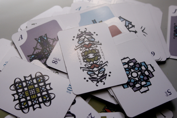 Typography Playing cards2